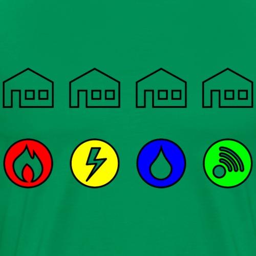Utilities Problem - Mannen Premium T-shirt