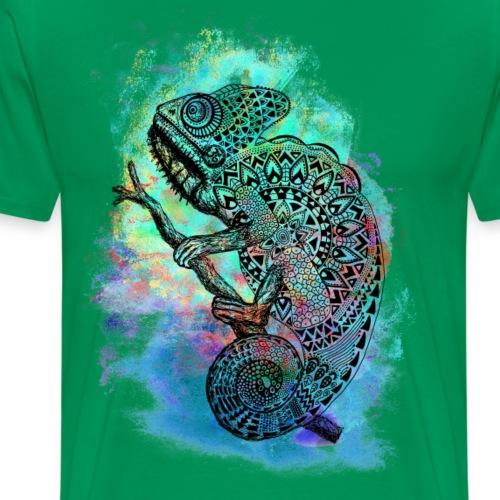 Spirituelles Krafttier-Shirt Chamäleon - Männer Premium T-Shirt