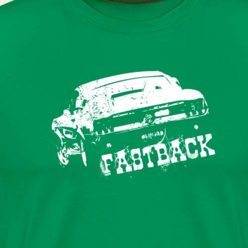67 fastback white - Herre premium T-shirt