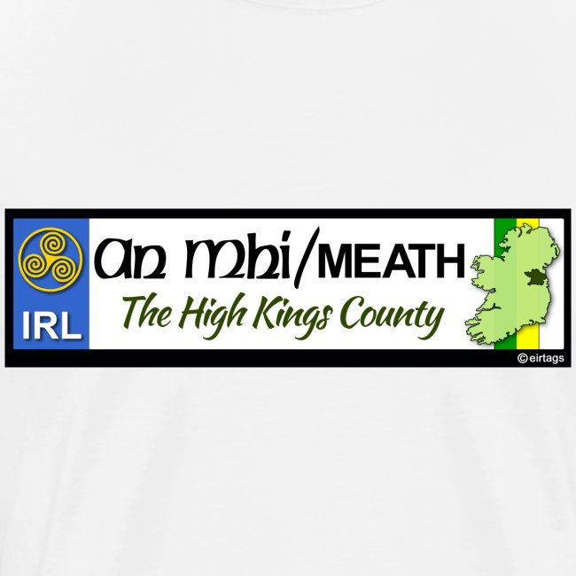 CO. MEATH, IRELAND: licence plate tag style decal