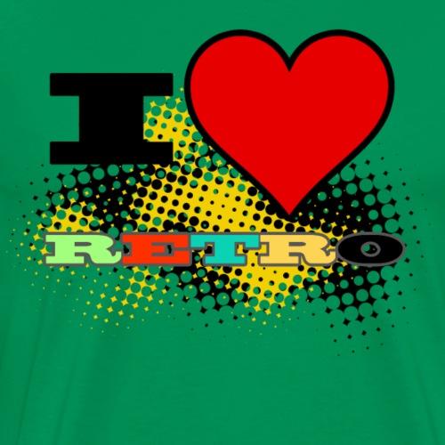 I Love Retro ( Green ) - Mannen Premium T-shirt