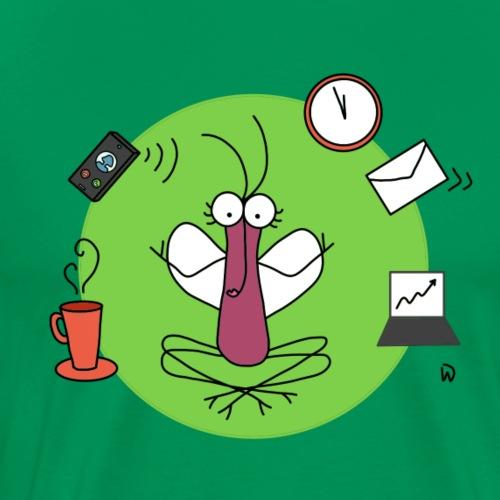 Djen Wana reste zen @ travail - T-shirt Premium Homme