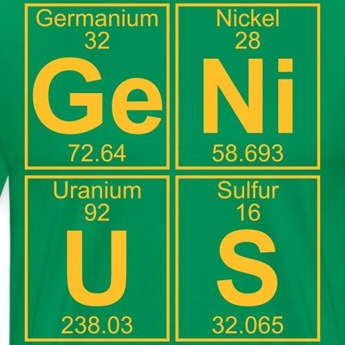Ge-Ni-U-S (genius) - Full - Men's Premium T-Shirt