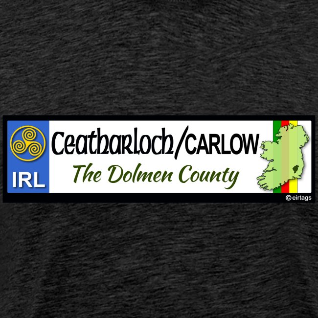 CARLOW, IRELAND: licence plate tag style decal