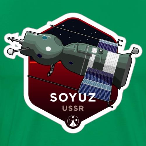 Serie Space Race: SOYUZ (Large print) - Maglietta Premium da uomo