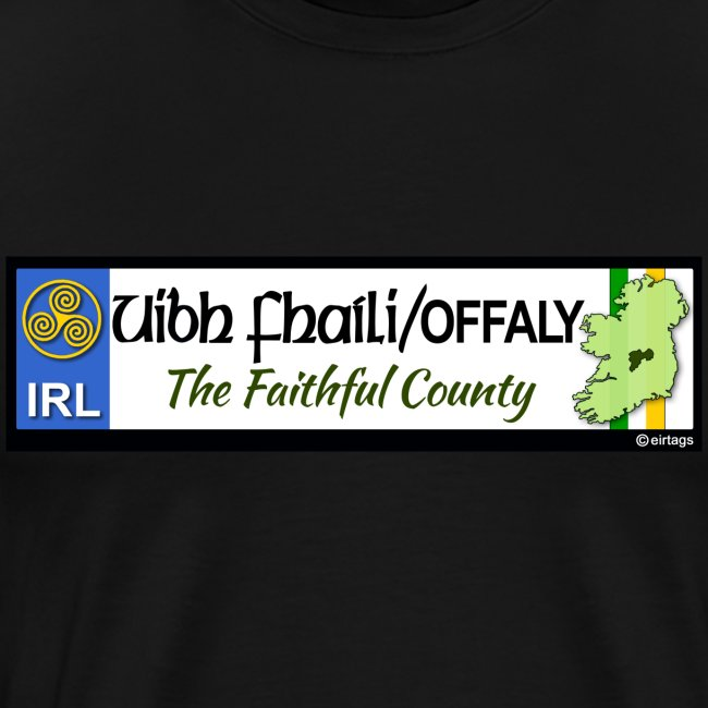 CO. OFFALY, IRELAND: licence plate tag style decal