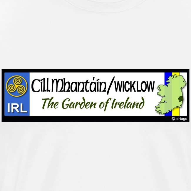 WICKLOW, IRELAND: licence plate tag style decal