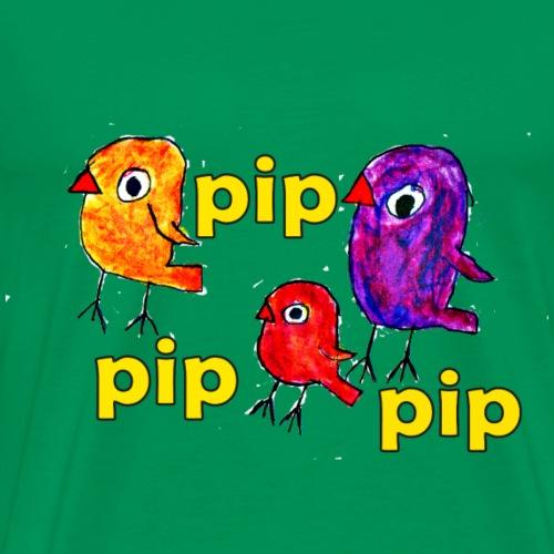 3er original pip pip pip gelb - Männer Premium T-Shirt
