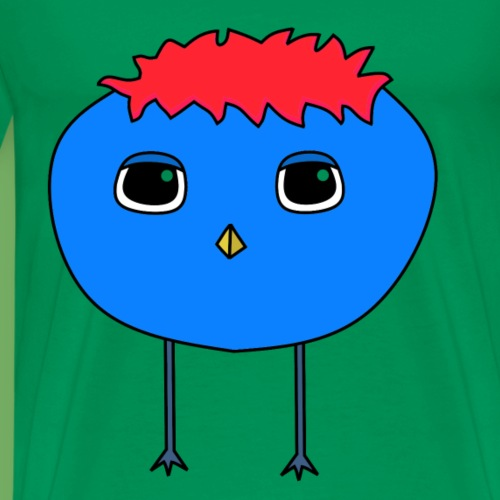 Punky Birdy Red - T-shirt Premium Homme