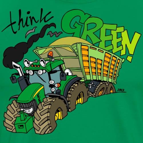 think green - Mannen Premium T-shirt