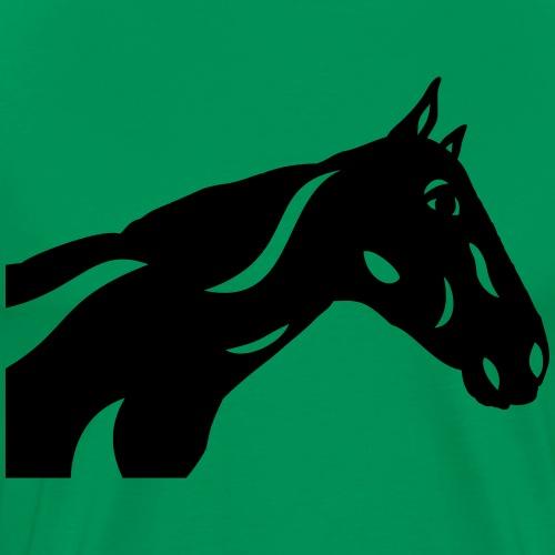 Abstraktes Pferd Crimson - Männer Premium T-Shirt