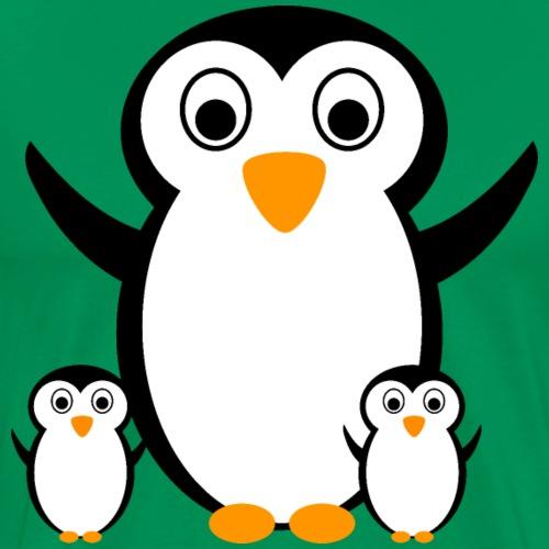 Pinguin mit Pinguinkindern Design Shirt Geschenk - Männer Premium T-Shirt