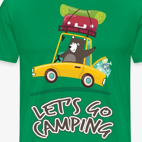 Let's go camping and Traveling by car T-shirt - Men's Premium T-Shirt