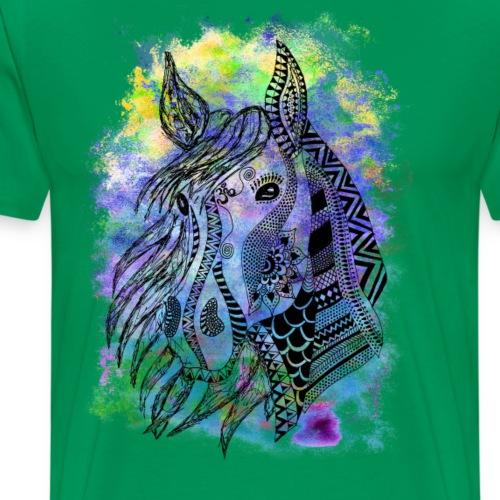 Spirituelles Krafttier-Shirt Pferd - Männer Premium T-Shirt