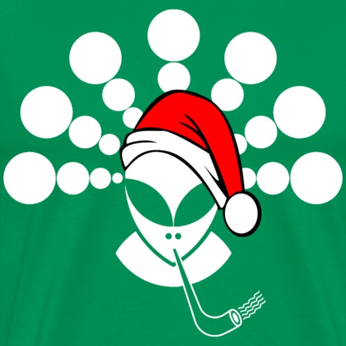 Christmas Alien White