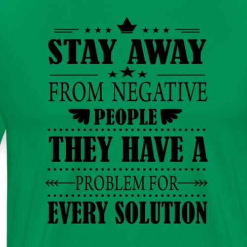 Stay away - Miesten premium t-paita