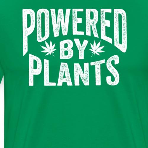 Powered by Plants Shirt Cannabis Shirt - Männer Premium T-Shirt
