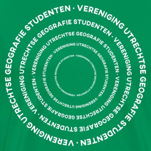 Alleen Maar Witte Rondjes - Mannen Premium T-shirt