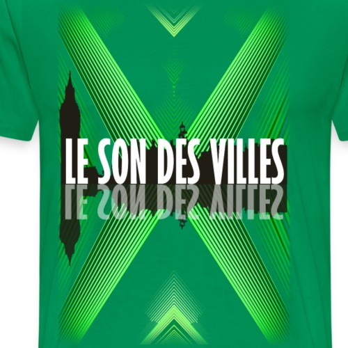 The wall - green - By Lesondesvilles - T-shirt Premium Homme