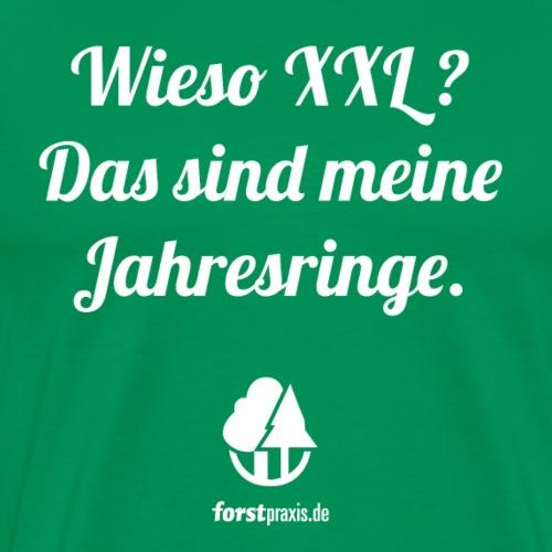 forstpraxis Jahresringe weiß - Männer Premium T-Shirt