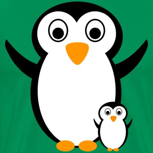 Pinguin mit Pinguin-Kind Design Shirt Geschenk - Männer Premium T-Shirt