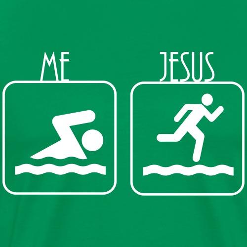 Swimming - Me vs. Jesus - Männer Premium T-Shirt