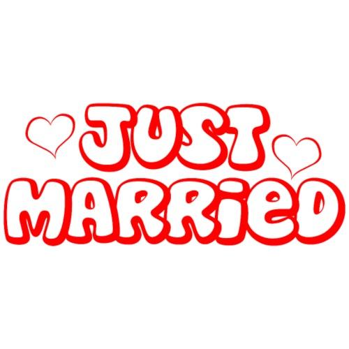 JUST MARRIED Partner Namen rot - Männer Premium T-Shirt