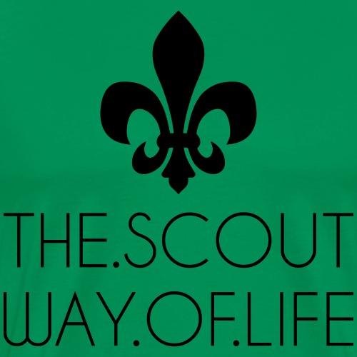 THE.SCOUT.WAY.OF.LIFE Typo Lilie - Farbe wählbar - Männer Premium T-Shirt