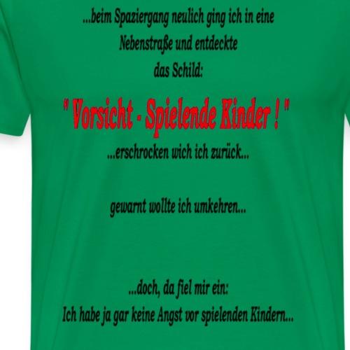spielende_kinder - Männer Premium T-Shirt