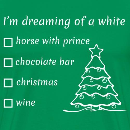 Kersttrui met humor - Mannen Premium T-shirt