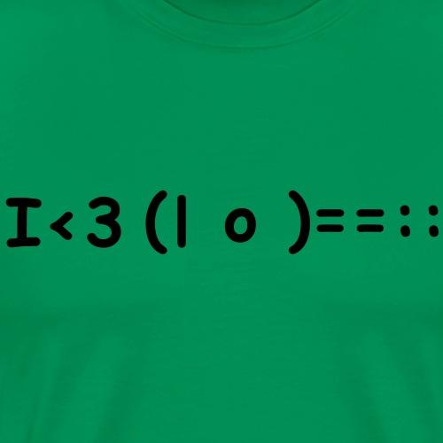 I love Ukulele - Männer Premium T-Shirt