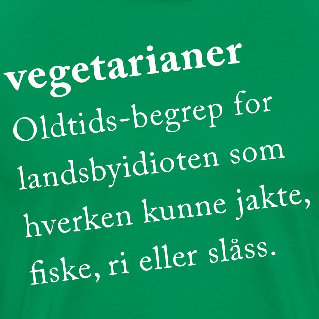 Vegetarianer definisjon