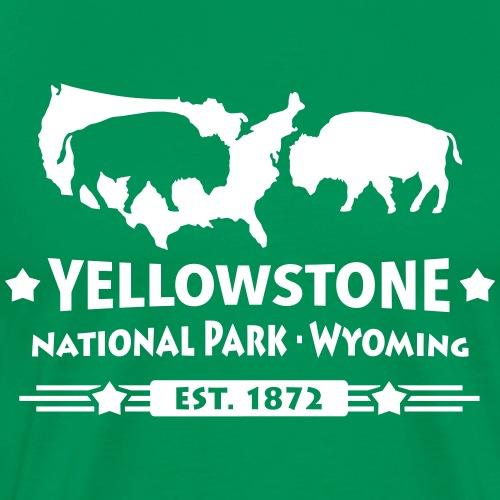 Buffalo Bison Büffel Yellowstone Nationalpark USA - Men's Premium T-Shirt