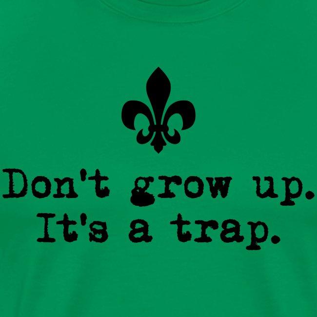 Don't grow up… kl. Lilie Typewriter - Farbe frei