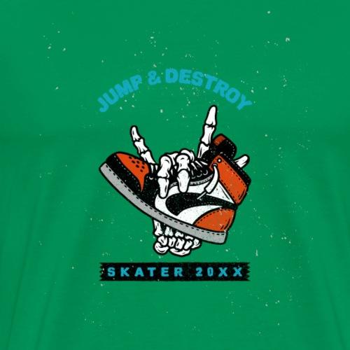 Skater Jump and Destroy - Männer Premium T-Shirt