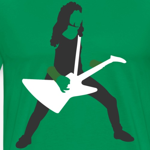 Metal guitar player, minimalist James Hetfield - Men's Premium T-Shirt