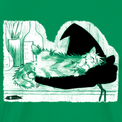 Tyrrin Hexenkater auf Hut (grün)