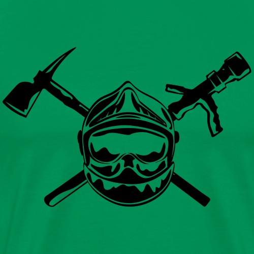 casque_pompier_hache et lance - T-shirt Premium Homme