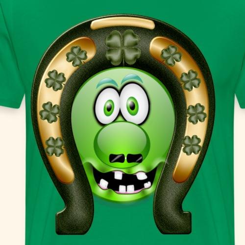 Mrs Saint Patricks green and gold clover decorated - Men's Premium T-Shirt