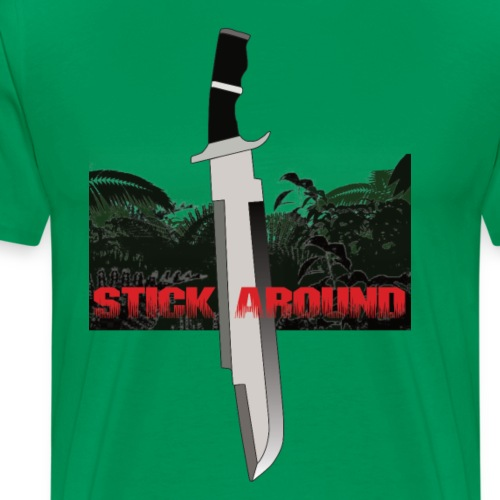 ARNIE stick around - Herre premium T-shirt