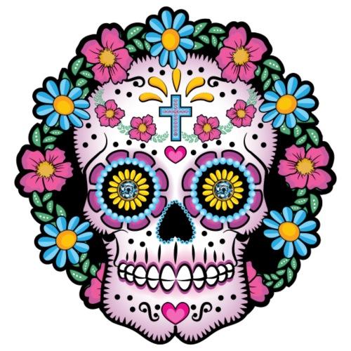 Dia de los Muertos Skull- - Men's Premium T-Shirt