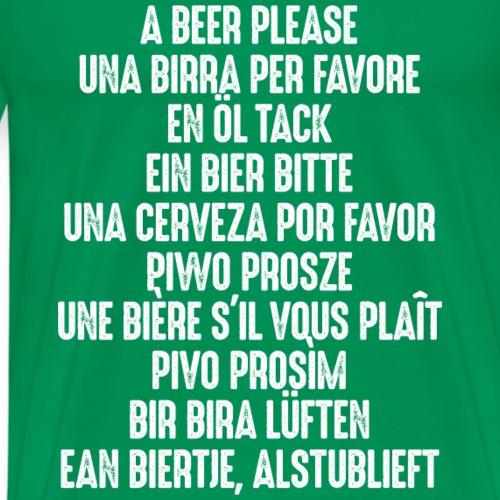 Bier Durst Pils beer birra cerveza Grill Steak BBQ - Men's Premium T-Shirt