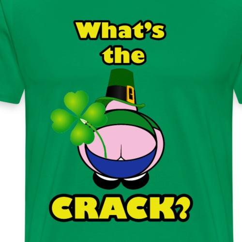 Shamrock Crack - Men's Premium T-Shirt