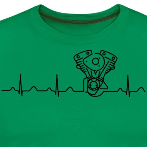 Late Shovel Heartbeat black - Männer Premium T-Shirt
