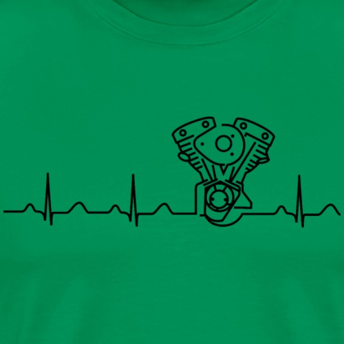 Late Shovel Heartbeat black - Männer Premium T-Shirt