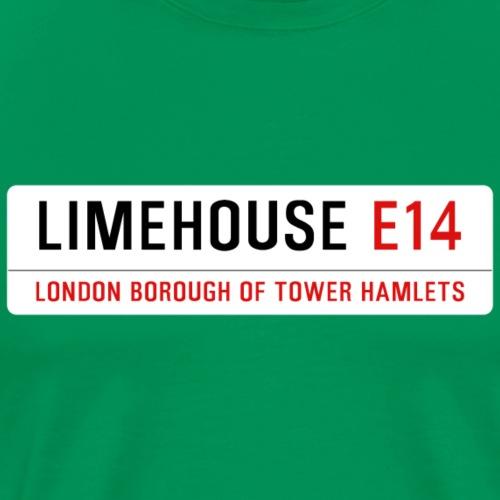 Limehouse Street Sign - Men's Premium T-Shirt
