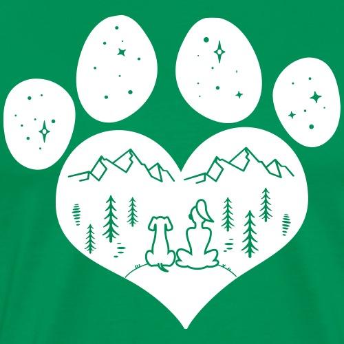 dog girl outdoor pawheart - Männer Premium T-Shirt