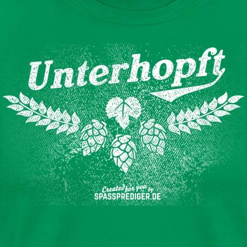 Unterhopft, distressed - Männer Premium T-Shirt