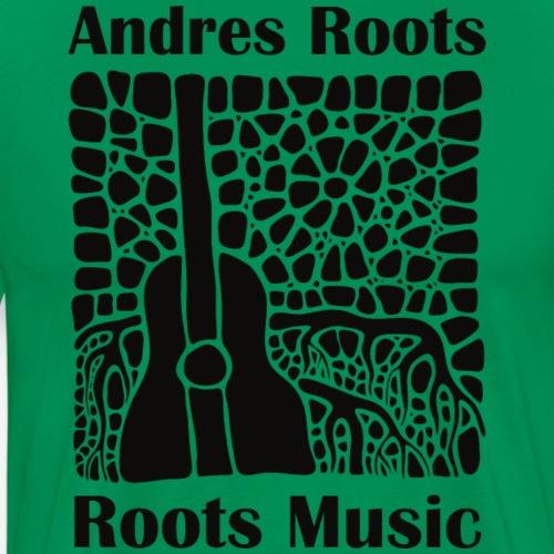 'Roots Music' album cover T-shirt, black print - Men's Premium T-Shirt
