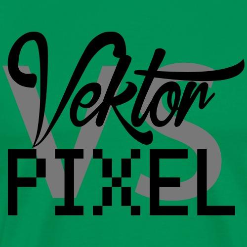 vector vs pixel - Männer Premium T-Shirt